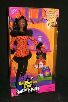 Halloween Fun Barbie And Kelly - the first Halloween Kelly doll released and the first African American Halloween dolls released - Target exclusive - from my personal collection