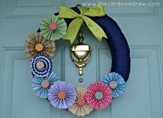 Spring Pinwheel Wreath - The Cards We Drew