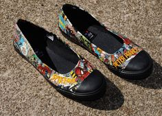 Spiderman Shoes by JoelyYoungDesign on Etsy, $25.00