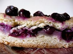 Italian schiacciata with grapes.