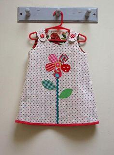 Petal Reversible Dress Pattern for Girls