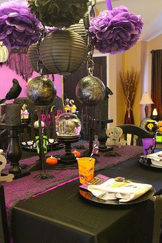 Purple and black halloween.