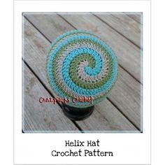 hats, crochet hat, spirals, spiral beani, crochet spiral hat pattern, hat patterns, children, helix hat, crochet patterns