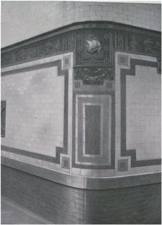 inspiration from the NYC subways that combined mosaic with subway tiles. Here's a picture taken c.1910 I think in columbus circle.