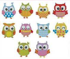 Owls Nordic Needle: Cross Stitch Patterns