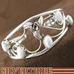Genuine Sterling Silver and Howlite Native American Bracelet