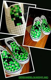 NIKERBOCKER: Bam! Minecraft shoes!