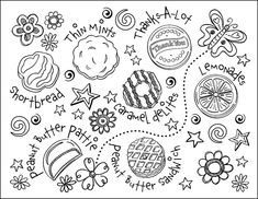 Girl Scout Cookie Coloring Page