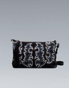 EMBROIDERED CLUTCH BAG - Handbags - Woman - ZARA United States