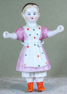 "3 1/8"" Antique Immobile All Bisque Doll ~  Very EARLY!"