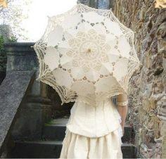 Beige Battenburg Lace Umbrella Parasol, Romantic Wedding Umbrella, Ivory High Quality kate molley http://www.amazon.com/dp/B00B0T9HX6/ref=cm_sw_r_pi_dp_Zzgnub0NYVSAD
