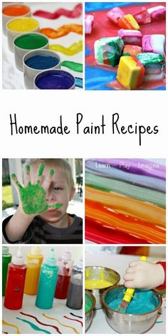 PreK or CAT The ultimate list of homemade paint recipes - 45 awesome ideas!