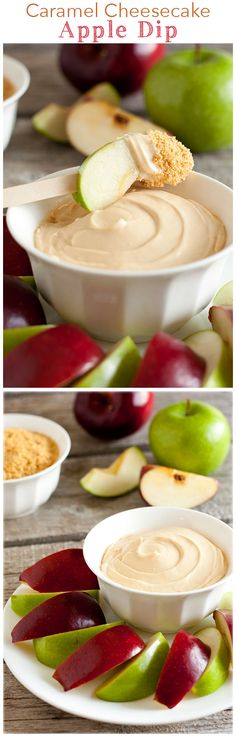 Caramel Cheesecake Apple Dip (3 Ingredient 3 Minute Recipe) ~ this dip is AMAZING! So easy SO good!
