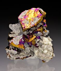 Chalcopyrite with Quartz from Colorado
