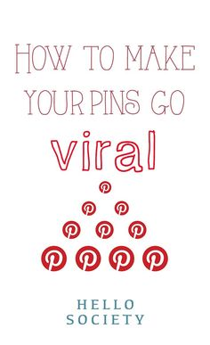 How to make your pins on #Pinterest go viral.    For more Pinterest tips follow #PinterestFAQ curated by #JosephKLeveneFineArtLtd     https://pinterest.com/jklfa/pinterest-faq/