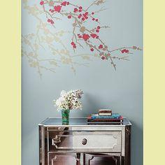 cherry-branch-stencil  -  I like, I like!