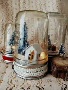 Light Up Mason Jar Snow Globe Tutorial