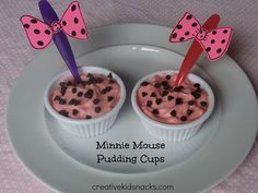 Minnie Mouse Birthday Party Food Ideas. The bows on the spoons are a nice touch.