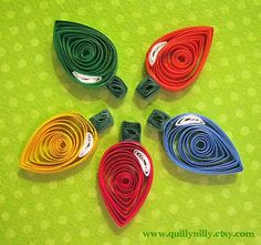 Quilling Christmas lights