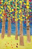 Artsonia Art Exhibit :: Fall trees