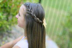 Knotted Braid Tieback #hairstyles #hair #knot #braid #CGHKnotbraidtieback