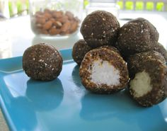Raw Gingerbread Bites with 'Icing' Filled Centers