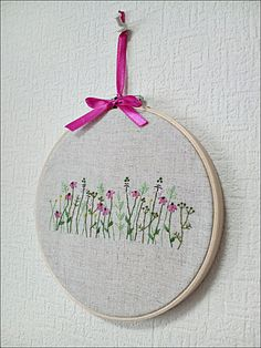 Clearance Sale Hand embroidery in hoop Embroidery wall art Flower Garden