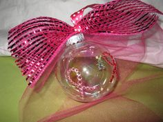 Breast Cancer Awareness Christmas Ornament by TallahatchieDesigns, $6.50