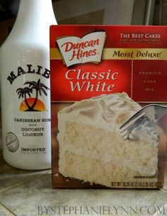 Malibu Rum Cupcakes. will be trying this