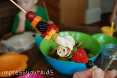 fruit kabobs, snack, fruit of the spirit for kids