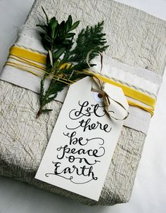 """Let There Be Peace on Earth"" ( Free Printable Gift Tag Here )"