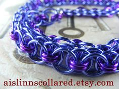 Lavender and Violet Chainmaille BDSM Slave by aislinnscollared, $40.00