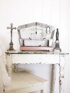 white chippi, bird cage, chippi tabl, muligheten mark