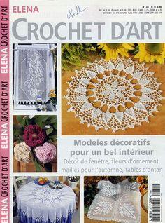 Magazine: Elena Haak D'Art № 26 kleine, № 31 (breien servetten, haak) - fijnmazig netwerk - WORKS HAND - Publisher - LIFE LINE