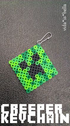 Creeper keychain made out of perler beads