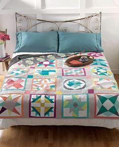 Meet the Vintage Revival Quilts: Katie's Sampler Quilt clark, 22 modern, vintag quilt, vintage quilts, classic block, quilt reviv, sampler quilts, new books, modern design