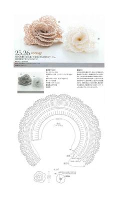 Crochet Wrap Rose - Chart ❥ 4U // hf
