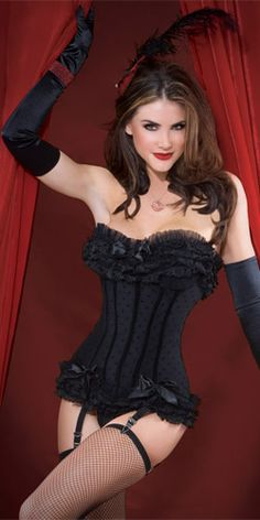 Polka-Dot Mesh Corset. This makes me wish corsets were in fashion for everyday wear.