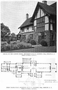 Old Long Island: The Henry F. Godfrey Estate designed by Walker & Gillette c. 1910 in Old Westbury.