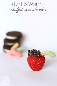 Fun stuffed strawberries for kids with cookies and gummies