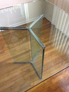 VINTAGE PACE COLLECTION CHROME AND GLASS DINING TABLE $400