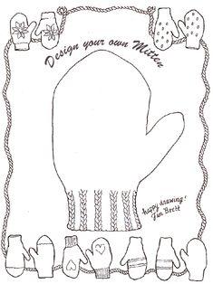Design your own Mitten. Jan Brett