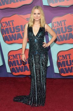 Kristen Bell in Zuhair Murad at the CMT Awards
