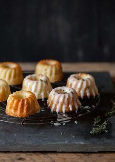 Lemon and thyme mini bundt cakes // DrizzleandDip.com // Sam Linsell