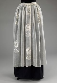 1760–70 cotton apron, British