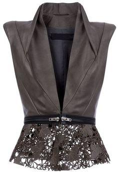 HAIDER ACKERMANN - Leather gilet