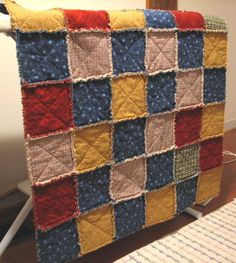 Flannel rag quilt...so comforting!