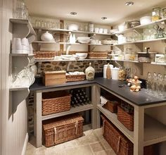 built in basement butler's pantry | Basements that you will never ever want to leave......... - The Enchanted Home