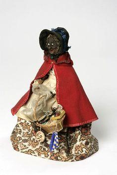apple head peddler doll, 1840