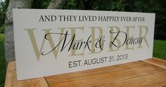 Wedding Gift, Family Established Sign, Wedding Decor, Family name sign, Wood sign with established date, anniversary engagement on Etsy, $38.95